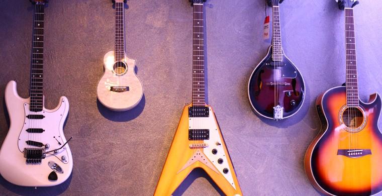 Tuberecords | Gitarren im Studio